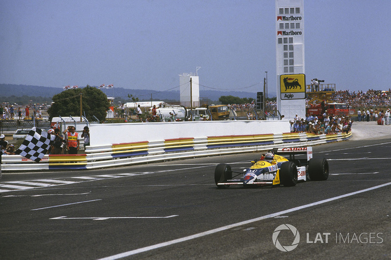 18º Nigel Mansell, Williams FW11B, Le Castellet 1987. Tiempo: 1:06.454