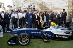 Presentación del ePrix de Roma en presencia del alcalde de Roma Virgina Raggi