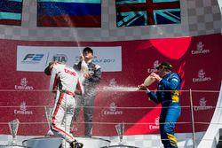 Podium: 1. Artem Markelov, RUSSIAN TIME; 2. Alexander Albon, ART Grand Prix; 3. Oliver Rowland, DAMS