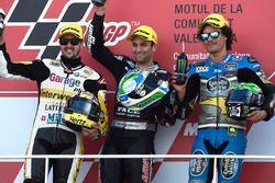 Podyum: 1. Johann Zarco, Ajo Motorsport, 2. Thomas Lüthi, Interwetten, 3. Franco Morbidelli, Marc VD