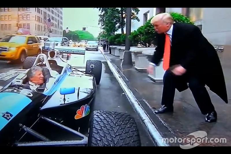 Mario Andretti con Donald Trump