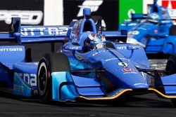 Scott Dixon, Chip Ganassi Racing Honda devant Tony Kanaan, Chip Ganassi Racing Honda