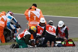 Axel Pons, RW Racing GP, lesionado después de su accidente