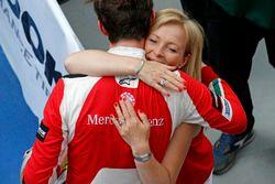 Callum Ilott, Prema Powerteam, Dallara F317 - Mercedes-Benz with his mother