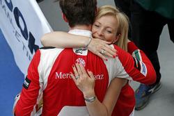 Callum Ilott, Prema Powerteam, Dallara F317 - Mercedes-Benz avec sa maman