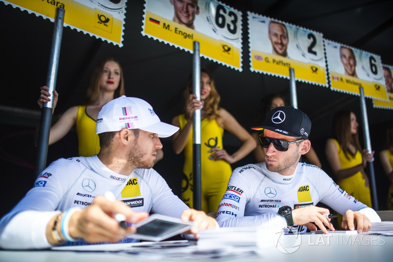 Edoardo Mortara, Mercedes-AMG Team HWA, Mercedes-AMG C63 DTM y Maro Engel, Mercedes-AMG Team HWA, Mercedes-AMG C63 DTM