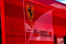 Ferrari Badge and Logo in the paddock