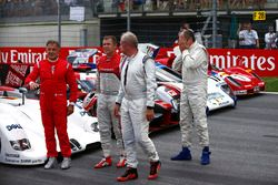 Jean Alesi, Helmut Markko, Consultant, Red Bull Racing, Tom Kristensen and Gerhard Berger for the Le