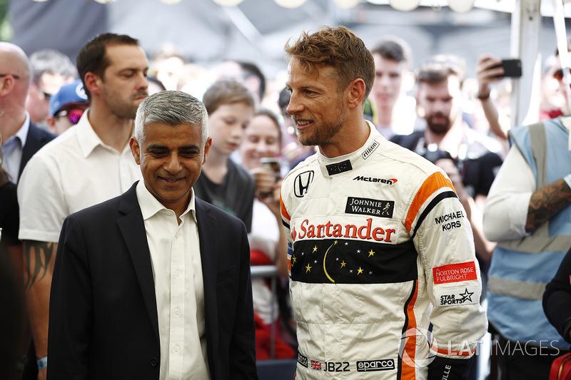 Sadiq Khan, Mayor of London, Jenson Button, McLaren