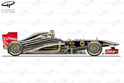 Lotus Renault R31 side view, Italian GP