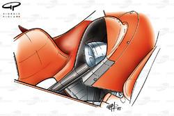 Ferrari F2003-GA exhaust pipe