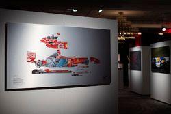 Un disegno tecnico di Giorgio Piola della Ferrari 2004 di Michael Schumacher