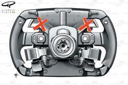 Ferrari F2012 steering wheel
