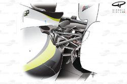 Brawn BGP 001 2009 rear suspension overview