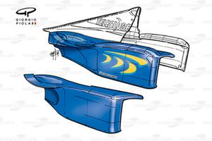 BAR 01 sidepod bodywork
