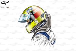 Ralf Schumacher avec le système HANS