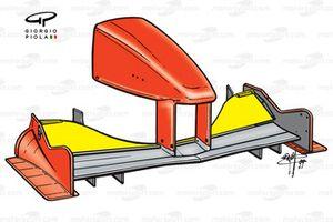 Ferrari F399 front wing, short chord top flap