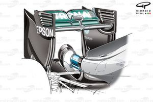 Mercedes F1 W07, nuovo hooped monkey seat