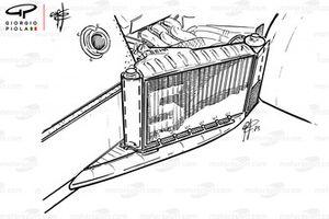 Détails du radiateur de la Brabham BT52B