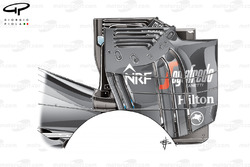 Заднее антикрыло McLaren MP4-31. Тестировалось, но не использовалось в гонках