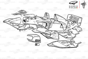 Ferrari 412T1 (646) 1994 desmontado en partes
