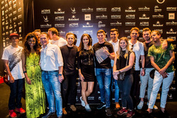 Max Verstappen, Red Bull Racing avec Jos Verstappen, de la famille et des amis