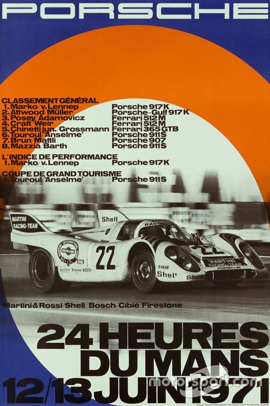Poster: Porsche-Sieg bei den 24h Le Mans 1971