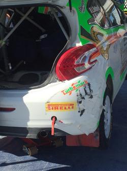 Danno sulla Peugeot 208 R2 di Luca Bottarelli e Manuel Fenoli