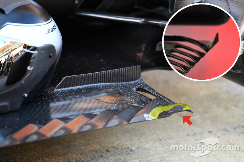 Mercedes AMG F1 W08 rear floor detail