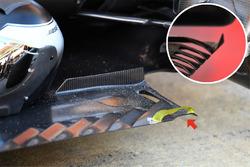 Mercedes AMG F1 W08, detalle del suelo trasero