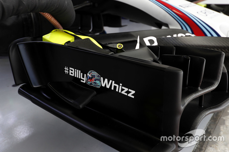 Williams FW40 con el logo de #BillyWhizz