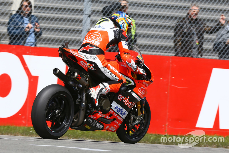 Chaz Davies, Ducati Team with mechanical trouble