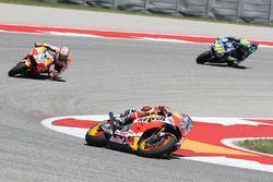 Marc Marquez, Repsol Honda Team; Dani Pedrosa, Repsol Honda Team; Valentino Rossi, Yamaha Factory Ra
