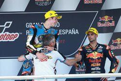 Podium: race winner Alex Marquez, Marc VDS, third place Miguel Oliveira, Red Bull KTM Ajo