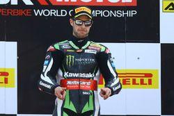 Podium: winner Jonathan Rea, Kawasaki Racing