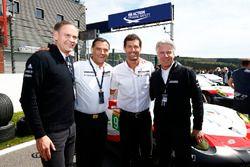Oliver Blume, Michael Steiner, Mark Webber und Andreas Haffner