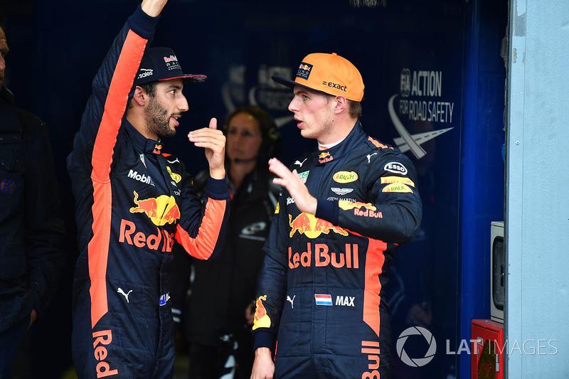 Daniel Ricciardo, Red Bull Racing y Max Verstappen, Red Bull Racing en parc ferme
