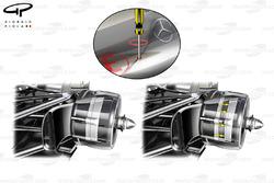 McLaren MP4-27 detalle de los frenos posteriores ajustables