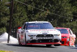 Sam Hornish Jr., Team Penske Ford, Justin Allgaier, JR Motorsports Chevrolet