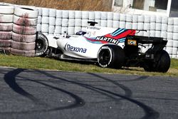 Lance Stroll, Williams FW40 crash