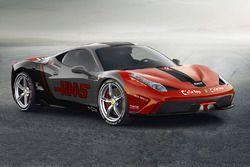 Ferrari 458 en livery de Haas F1 Team