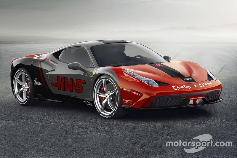 Ferrari 458 в ливрее Haas F1 Team