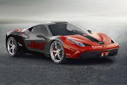 Ferrari 458 in Haas F1 Team livery