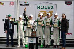 Race winner GTD, #28 Alegra Motorsports Porsche 911 GT3 R: Daniel Morad, Jesse Lazare, Carlos de Que