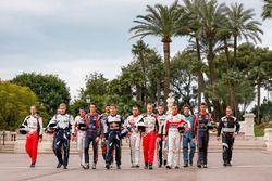 Gruppenfoto der WRC-Fahrer 2017