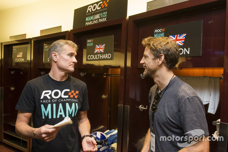 David Coulthard y Jenson Button