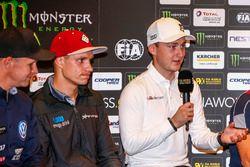 Conferenza stampa, Reinis Nitiss, EKS, Audi S1 EKS RX Quattro