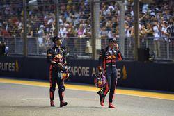 Daniel Ricciardo, Red Bull Racing and Max Verstappen, Red Bull Racing in parc ferme