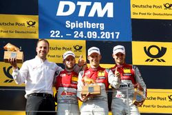 Podium: le vainqueur Mattias Ekström, Audi Sport Team Abt Sportsline, Audi A5 DTM, le deuxième Jamie Green, Audi Sport Team Rosberg, Audi RS 5 DTM, le troisième Nico Müller, Audi Sport Team Abt Sportsline, Audi RS 5 DTM, Thomas Biermaier, Team Abt Sportsline