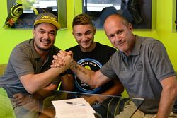 Dennis Foggia, Sky Racing Team VR46, Luca Marini, Sky Racing Team VR46, Pablo Nieto, Sky Racing Team VR46 Team Manager